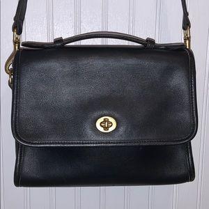 Vintage Leather Coach Flap Front Purse